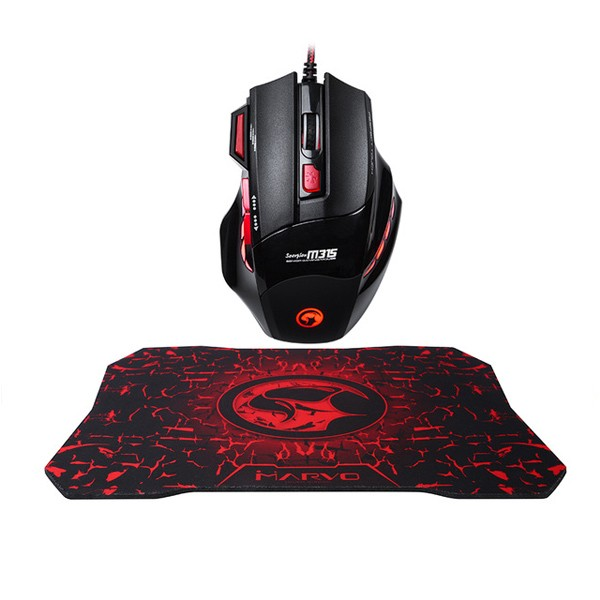 Marvo M315 + G1 Gaming Mouse + mousepad