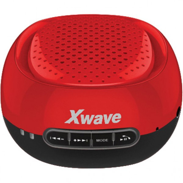 Xwave B COOL red cap/black BT/FM/microSD/USB Bluetooth zvučnik