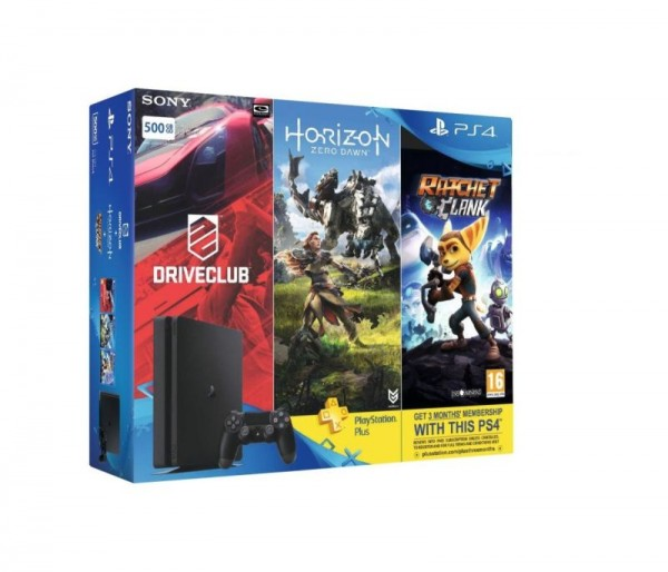 Sony PS4 500GB + 3 igre