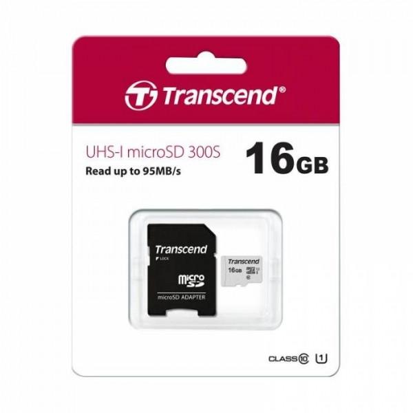Transcend microSDHC UHS-I 300S 16GB TS16GUSD300S