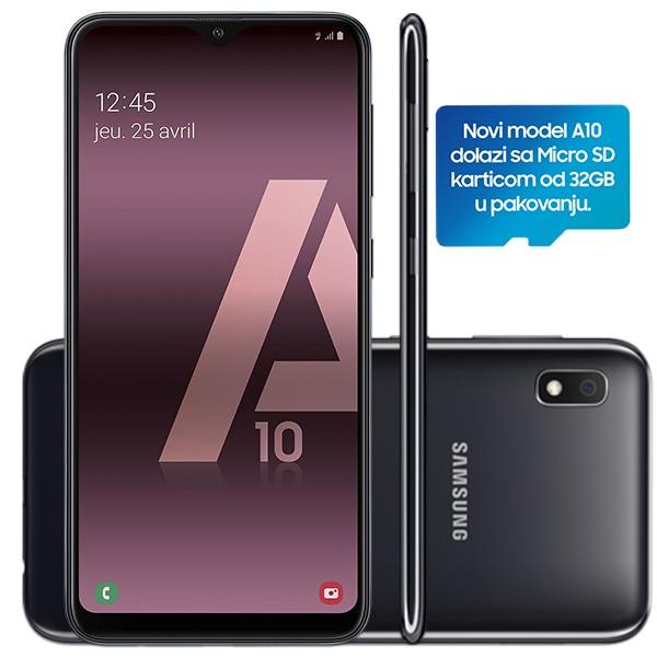 Samsung Galaxy A10 Dual SIM Black + poklon 32GB microSD Sandisk