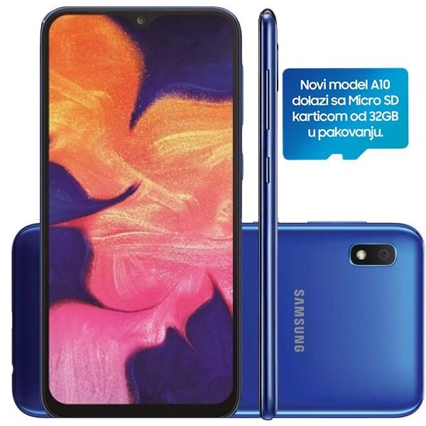 Samsung Galaxy A10 Dual SIM Blue + poklon 32GB microSD Sandisk