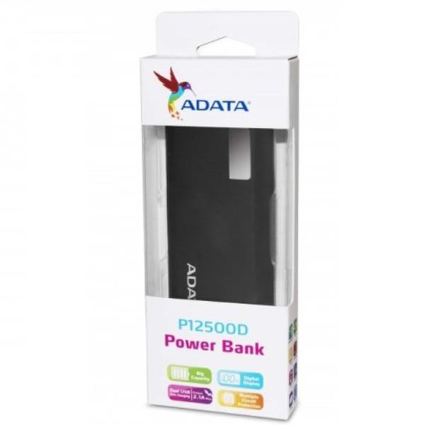 Adata AP12500D-DGT  12500mAh Power Bank White