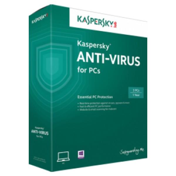 Kaspersky Anti-Virus 2019, licenca za 3 korisnika
