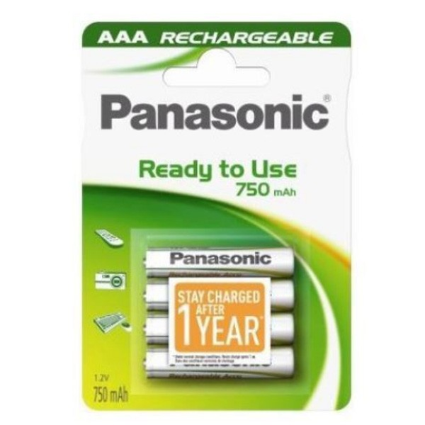 Panasonic AAA 750mAh Ready to Use rechargeable