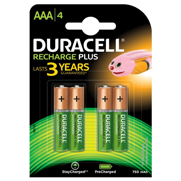 Duracell AAA 750mAh rechargeable