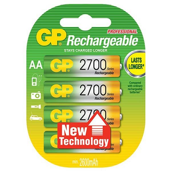GP AA 2700mAh Lasts Longer rechargeable