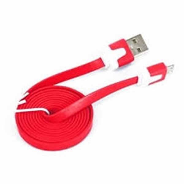 USB 2.0 flat micro kabl crveni