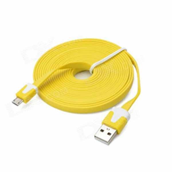 Omega OUAMCY flat micro USB yellow