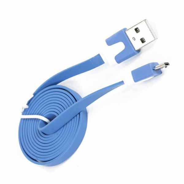 Omega OUAMCBL flat micro USB plavi