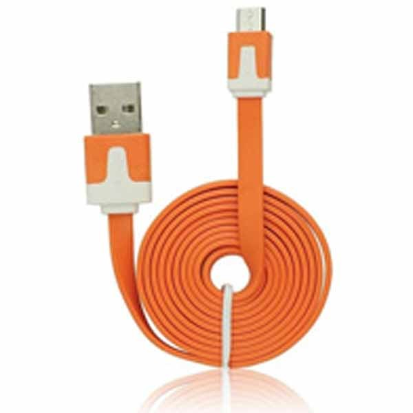 USB 2.0 flat micro kabl orange