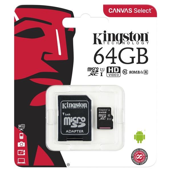 Kingston microSDXC 64GB SDCS/64GB