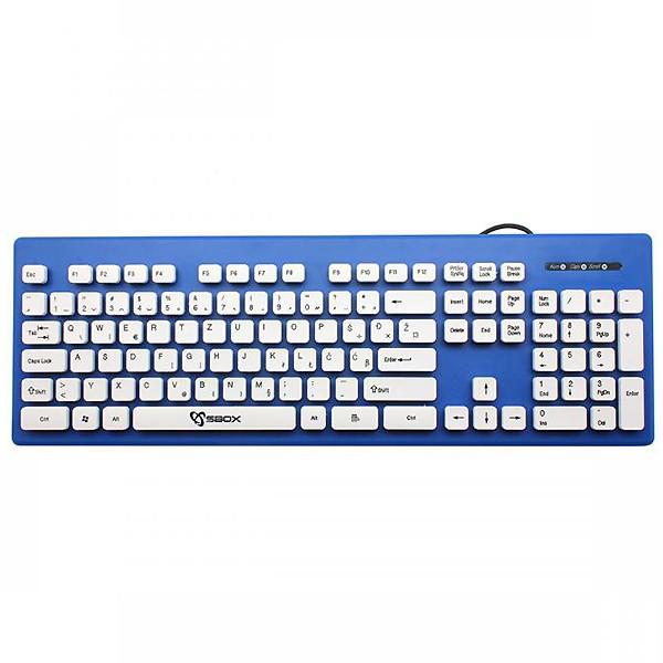 S BOX K-16BL tastatura USB SRB
