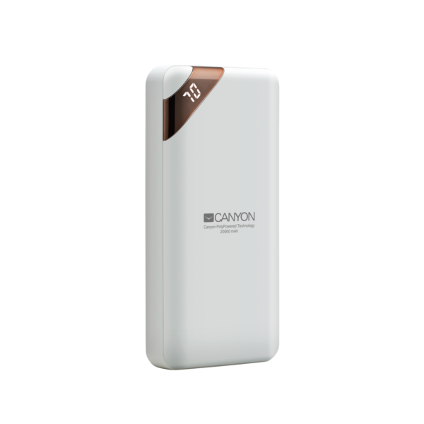 Canyon 20000mAh Power Bank White