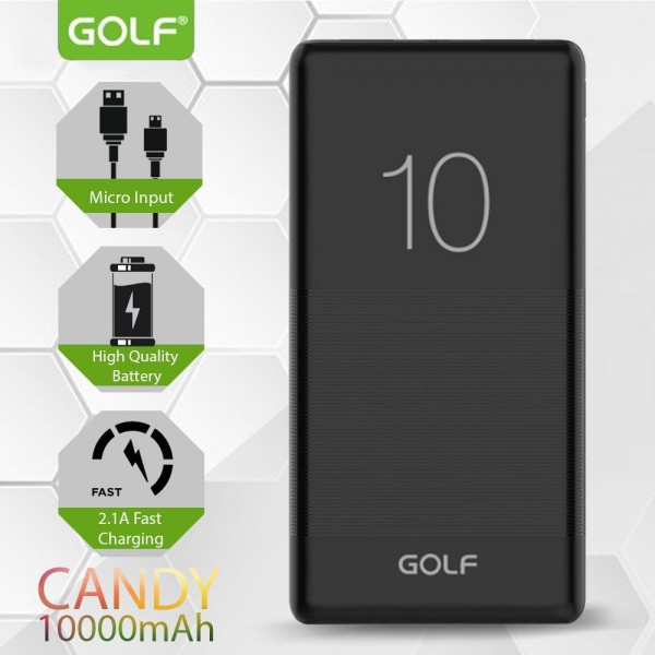 Golf G80 10000mAh Power Bank Black