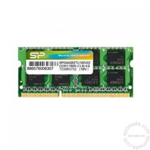 Silicon Power 4GB  DDR3 1600MHz SO-DIMM
