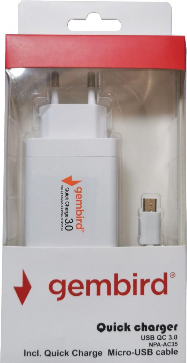 Gembird NPA-AC35 QC micro USB