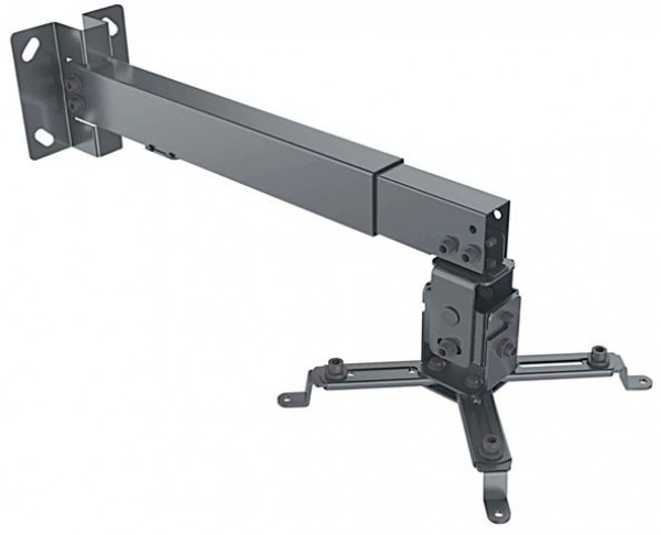 MH nosač za projektore-zidplafon univerzalni, crni, do 20kg