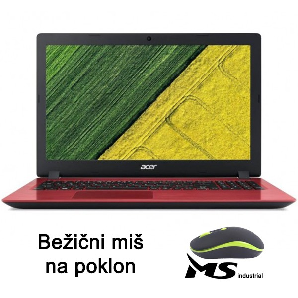 Acer Aspire A315-34-C65B N4000/4GB/256GB-SSD/Intel UHD/Red