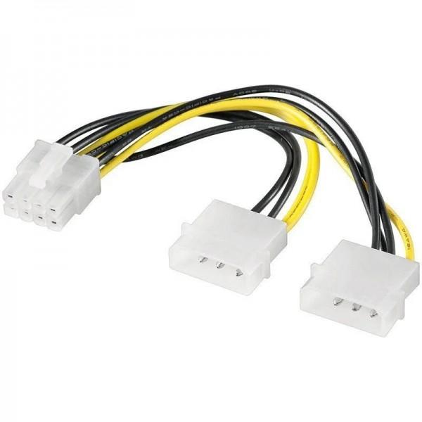 Naponski adapter 2 x Molex na 8 pina za VGA