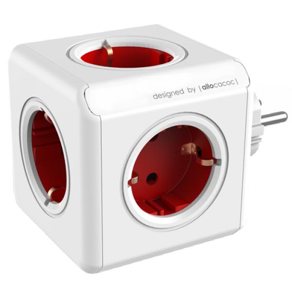 ALLOCACOC 1100RD/DEORPC Power Cube 5 x šuko crveni