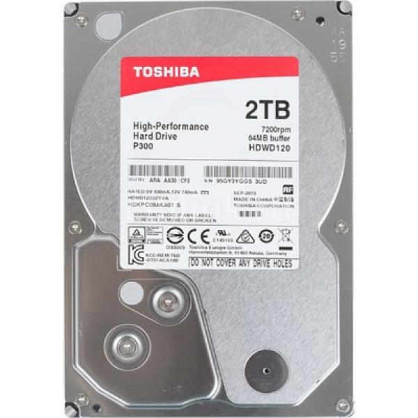 Toshiba 2TB 3,5'' SATA3 HDWD220UZSVA 64MB P300