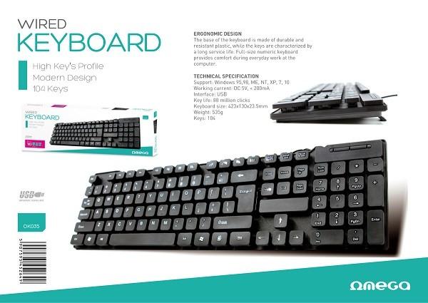 Omega OK035BUS tastatura
