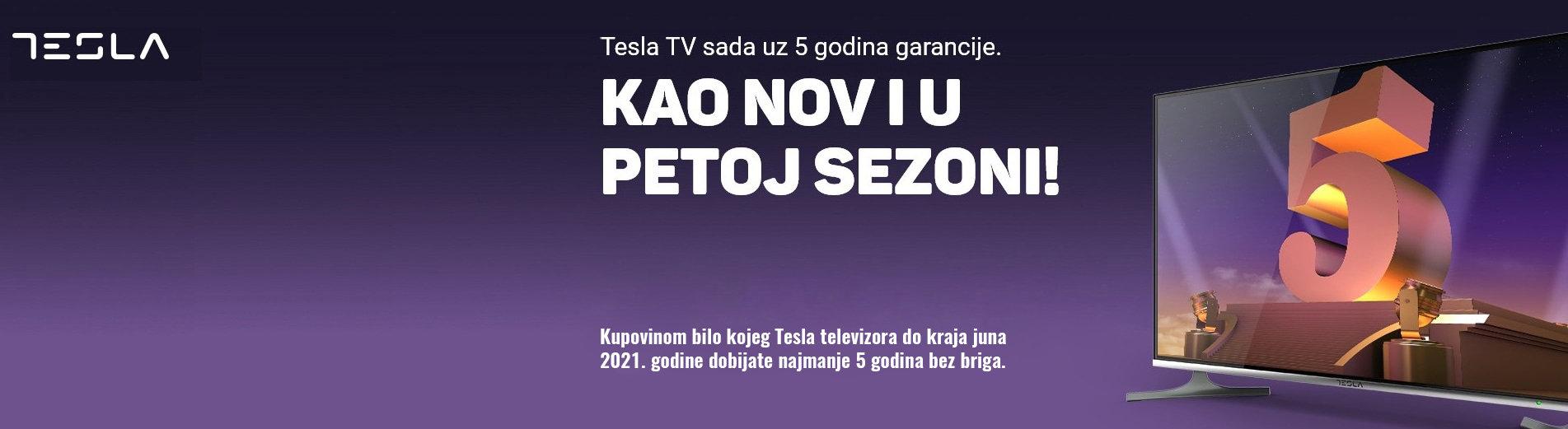 Tesla TV - 5 godina garancije