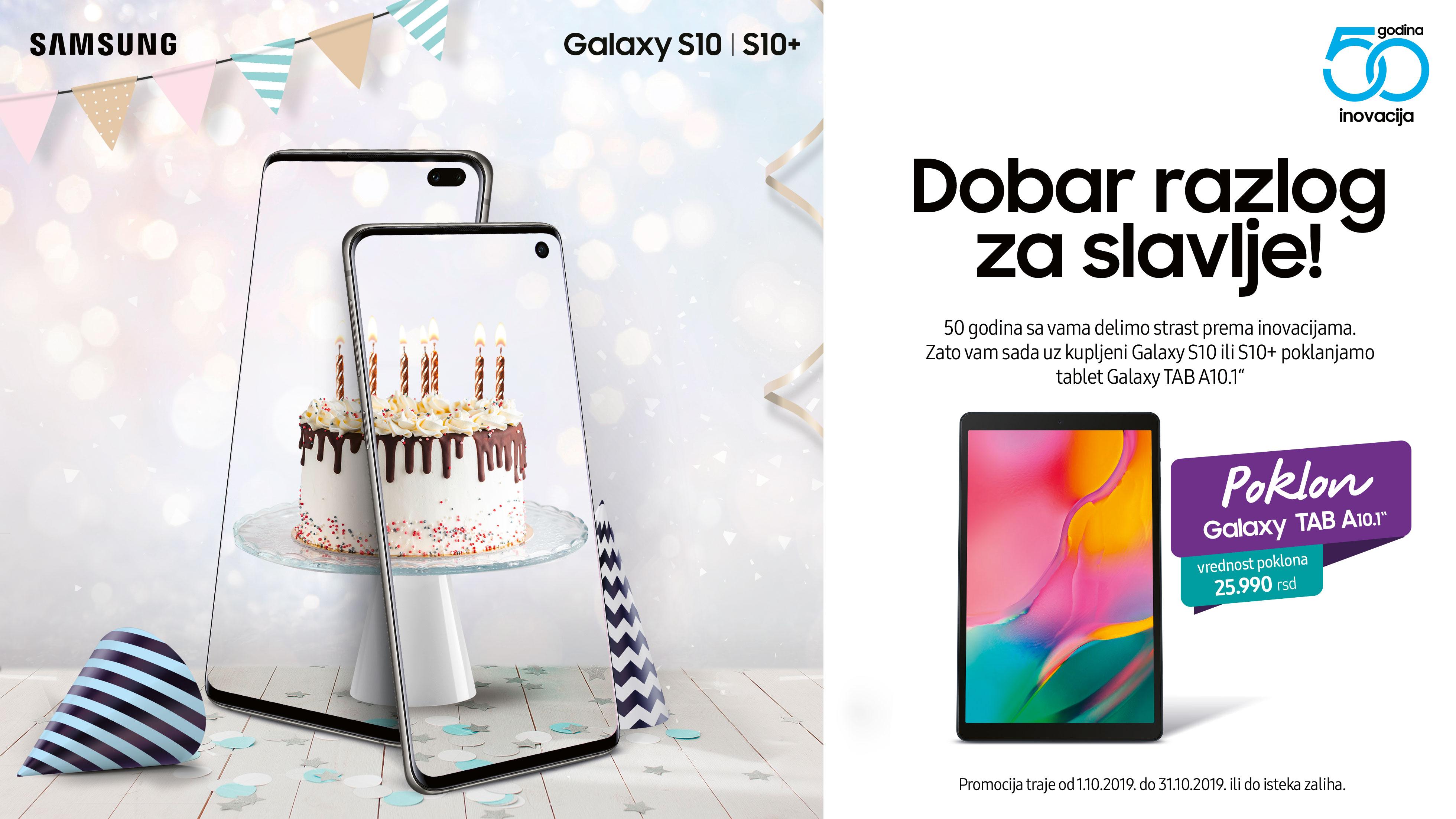 Promocija mobilnih telefona: Uz kupljeni Galaxy S10 ili S10+ na poklon Galaxy TAB A!