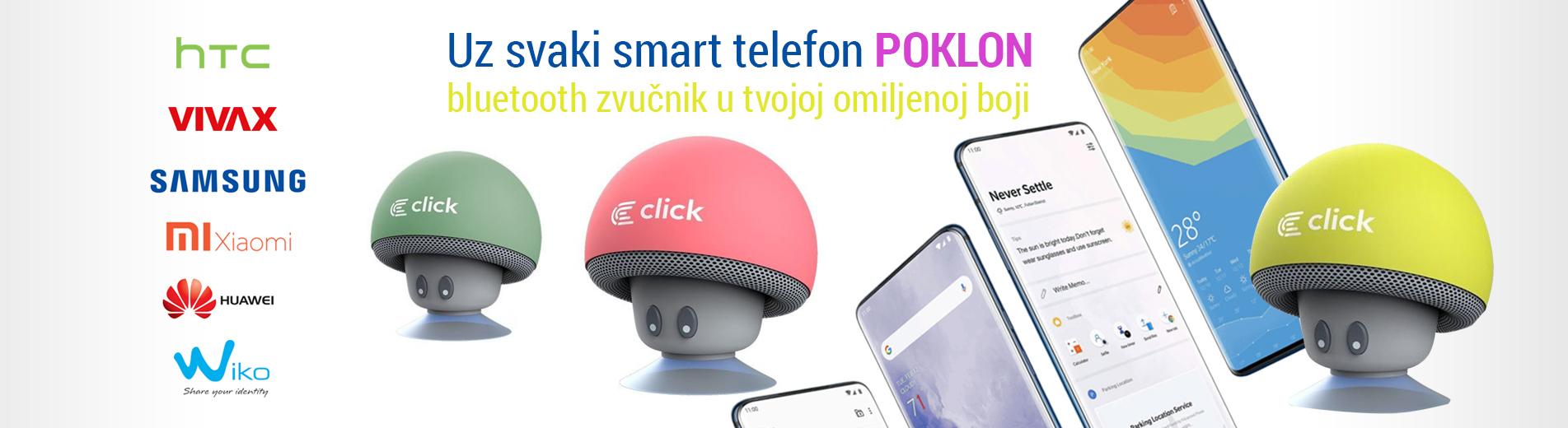 Uz svaki smart telefon POKLON bluetooth zvucnik u tvojoj omiljenoj boji