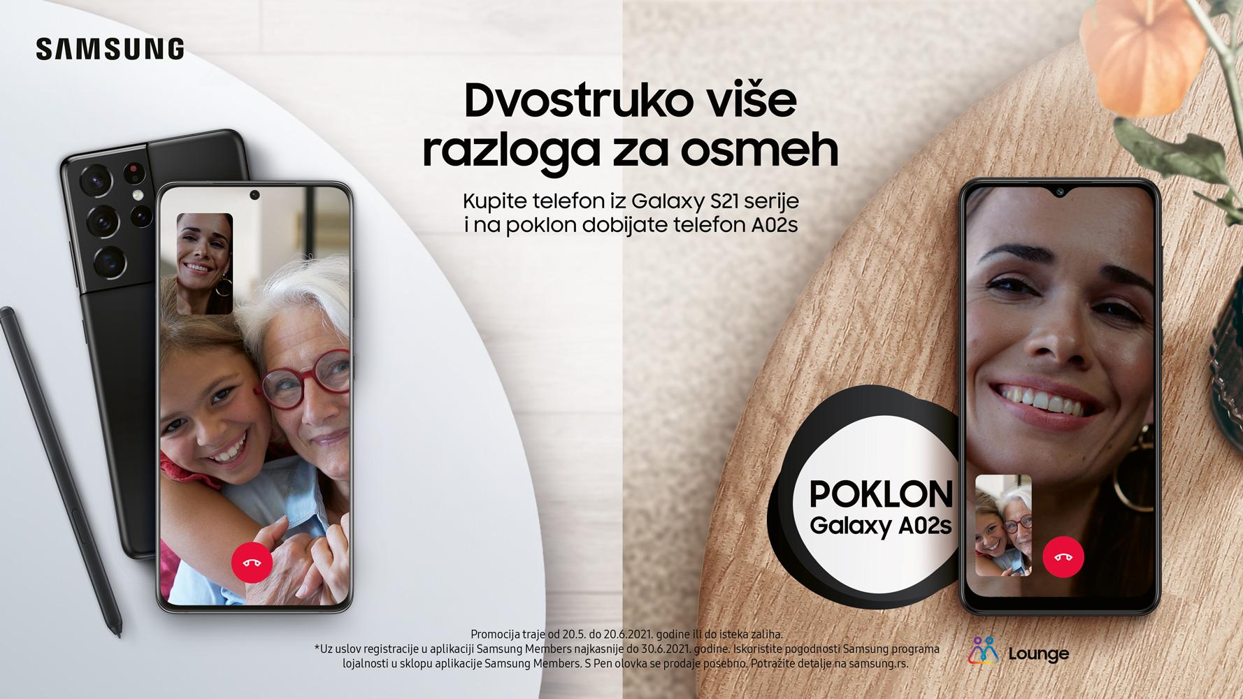 Samsung Galaxy S21 + poklon A02s